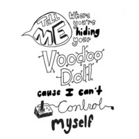 5 Seconds Of Summer-Voodoo Doll Lyric Art