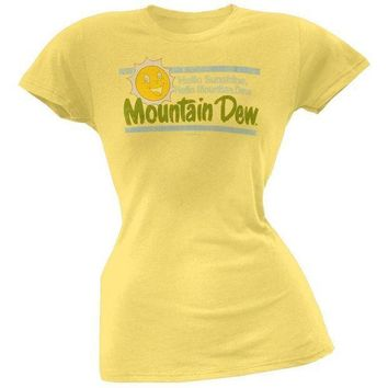 PEAPGQ9 Mountain Dew - Sunshine Juniors T-Shirt