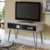 Retro Style Modern Classic TV Stand with Hairpin Legs