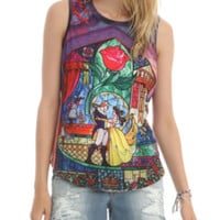 Disney Beauty And The Beast Rose Girls Muscle Top