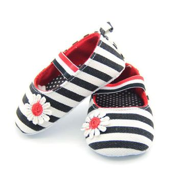 Cute Baby Girls First walkers Soft with Pattern Shading Soft Sole Baby Toldder Prewalkers Shoe 3 Colors