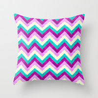 Chevron Jewel Throw Pillow by Jacqueline Maldonado