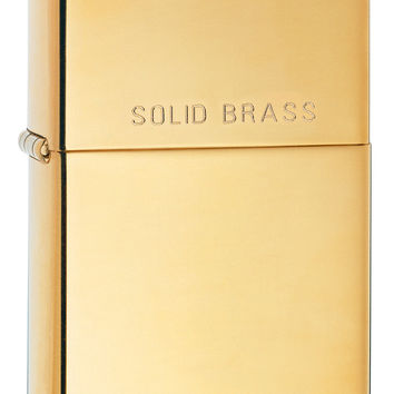 Zippo High Polish Brass Lighter 220