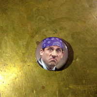 "THE OFFICE prison mike  1"" inch pin back button"