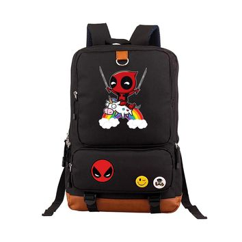 Deadpool Backpack Superheros Shoulder Bag For Teenagers Travel Rucksack School Backpack book Bags Satchel Mochila 17 ""