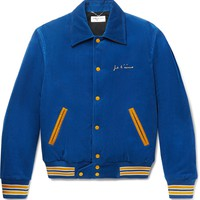 Vintage Corduroy Blue Bomber Jacket by Saint Laurent