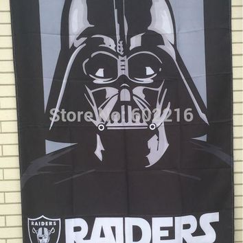 Oakland Raiders EMPIRE Star Wars Large Outdoor Flag 3ft x 5ft Football Hockey Baseball USA Flag