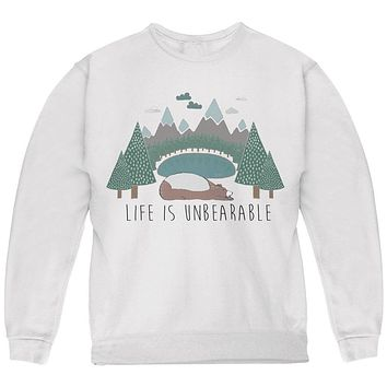 Autumn Life is Unbearable Bear Pun Youth Sweatshirt