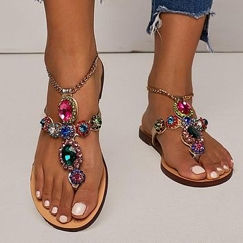 Hot Selling Water Drill Flat Bottom Toes and Sandals