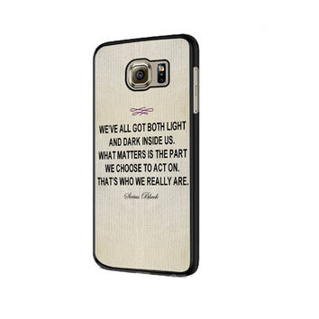 Harry Potter - Sirius Black Quote Samsung Galaxy S6 | S6 Edge Cover Cases