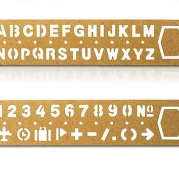 New Number & letters cutout Metal Bookmark / Drawing Stencils Ruler
