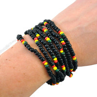 Rasta Stretch Bracelet on Sale for $2.99 at HippieShop.com