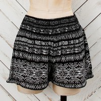 Altar'd State Sweet Mix Tribal Shorts In Black | Altar'd State