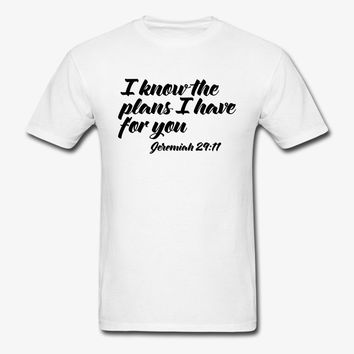 I Know The Plans | Christian | Faith | Religious T-Shirt | Christian Life Apparel