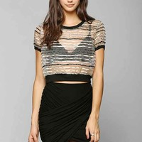Sparkle & Fade Crossover Mini Skirt-