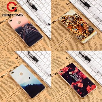GerTong Pattern Cases For Huawei P10 P9 Lite P8 Lite 2017 2015 Nova Mate 9 Y6 Pro Cover For Honor 8 Lite 9 7 6 6X 5X 4X 4C Coque