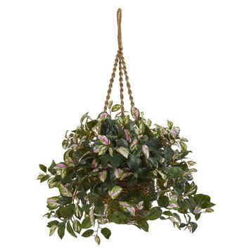 Hoya Artificial Plant Hanging Basket | Overstock.com Shopping - The Best Deals on Silk Plants