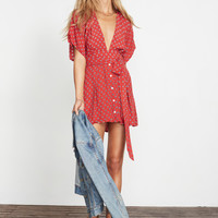 LUCY PRINT - RED - ST LUCIA DRESS