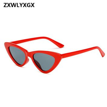 197047af4c9f7 Small Cateye Triangle Sunglasses Sexy Women Brand Vintage Cat Ey