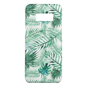 Watercolor Tropical Palm Tree Leaves Pattern Case-Mate Samsung Galaxy S8 Case