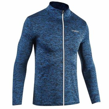Men's Long Sleeved T-shirt Bodybuilding Streetwear Fitness Sweatshirt Workout Tracksuit For Training Autumn Winter Clothing