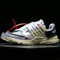 NIKE AIR PRESTO X OFF WHITE Running Shoes Sneaker Breathable Running Shoes F-XYXY-FTQ