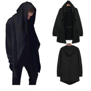 Original design spring autumn men's sweatshirt hoodie men hood cardigan mantissas black cloak outerwear men's clothing oversize