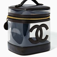 Vintage Chanel Black Leather Vanity Bag- SOLD OUT