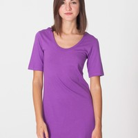 rsa234org - Organic Fine Jersey Short Sleeve Crew Neck T-Shirt Dress
