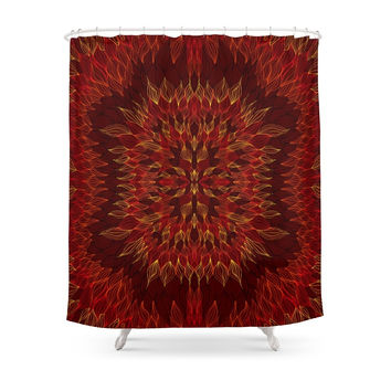 Society6 Fall Is Like The Fire Shower Curtain