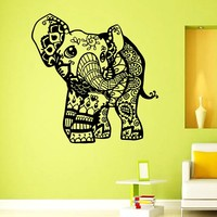Wall Vinyl Decal Pattern Sticker Home Decor Art Mural Indian Elephant Z378