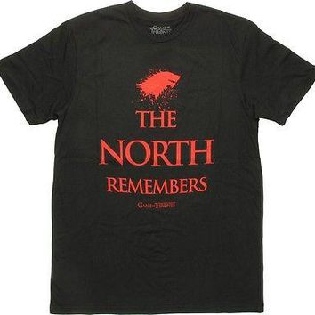 Game Of Thrones HOUSE OF STARK THE NORTH REMEMBERS T-Shirt NWT Licensed-Official