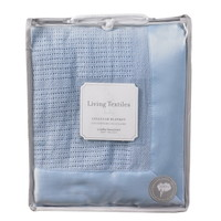 Opentip.com: Living Textiles Baby 203051 Cradle/Bassinet Cellular Blanket - Blue