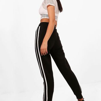 Gianna Contrast Side Panel Sweat Joggers | Boohoo