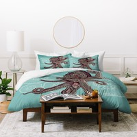 Valentina Ramos Octopus Bloom Duvet Cover