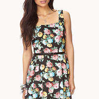 Garden-Chic Dress w/ Belt