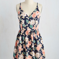 Find Your Grace in the Sun Dress in Navy   Mod Retro Vintage Dresses   ModCloth.com