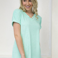 French Terry Top | Jadelynn Brooke | Mint