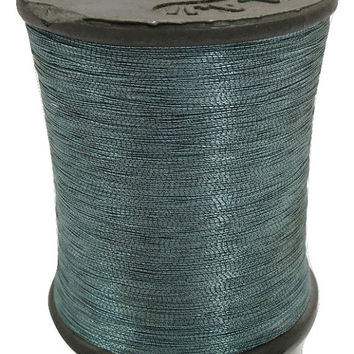 1 Spool Metallic Steel Grey Embroidery Thread, Hand/Machine Embroidery Thread, Zari Thread India/ zardozi work/Tassels/Laces/ Appliques