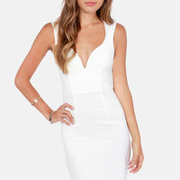 Visual Impact Ivory Dress