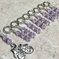Knitted Mittens Beaded Stitch Marker Set