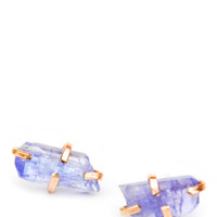 Tanzanite Claw Stud Earrings