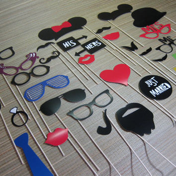 DIY Funny Photo Booth Props/Hat/Mustache/eye glasses/hot party fun favor/vintage wedding/Birthday Party/Prom party/bacholor/Masquerade party