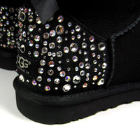 EXCLUSIVE - Swarovski Crystal Embellished Bailey Bow Uggs in Sparkly Night (TM) Toddler and Kids Uggs - Winter / Holiday Bling UGGs 2013