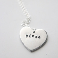 Pizza Heart Necklace