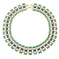 House of Harlow 1960 Jewelry Azure Mosaic Collar Necklace