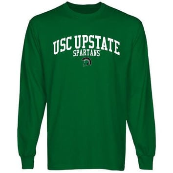 USC Upstate Spartans Team Arch Long Sleeve T-Shirt - Green