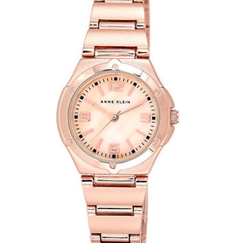 Anne Klein Ladies Rose Gold-Tone Bracelet Watch
