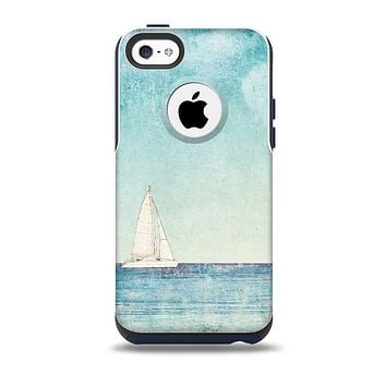 The Faded WaterColor Sail Boat Skin for the iPhone 5c OtterBox Commuter Case