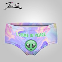 New come in peace alien Sexy  women panties girls briefs calcinha Underwear  Lady lingerie Intimates